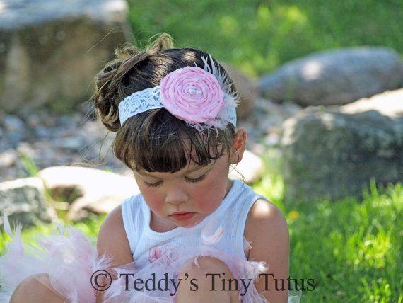 Toddler+Flower+Headband+Shabby+Rose+Headband+by+PansyPieBoutique,+$11.99