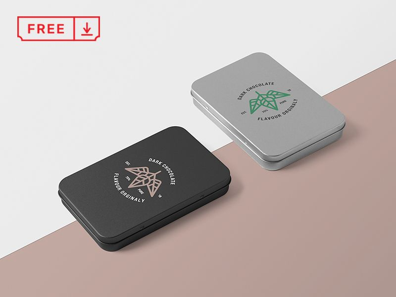 Download Metal Boxes Mockup Box Mockup Free Mockup Mockup Free Psd