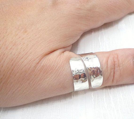 anneau large en argent anneau de pouce ajustable anneau large homme bague de pouce femme. Black Bedroom Furniture Sets. Home Design Ideas
