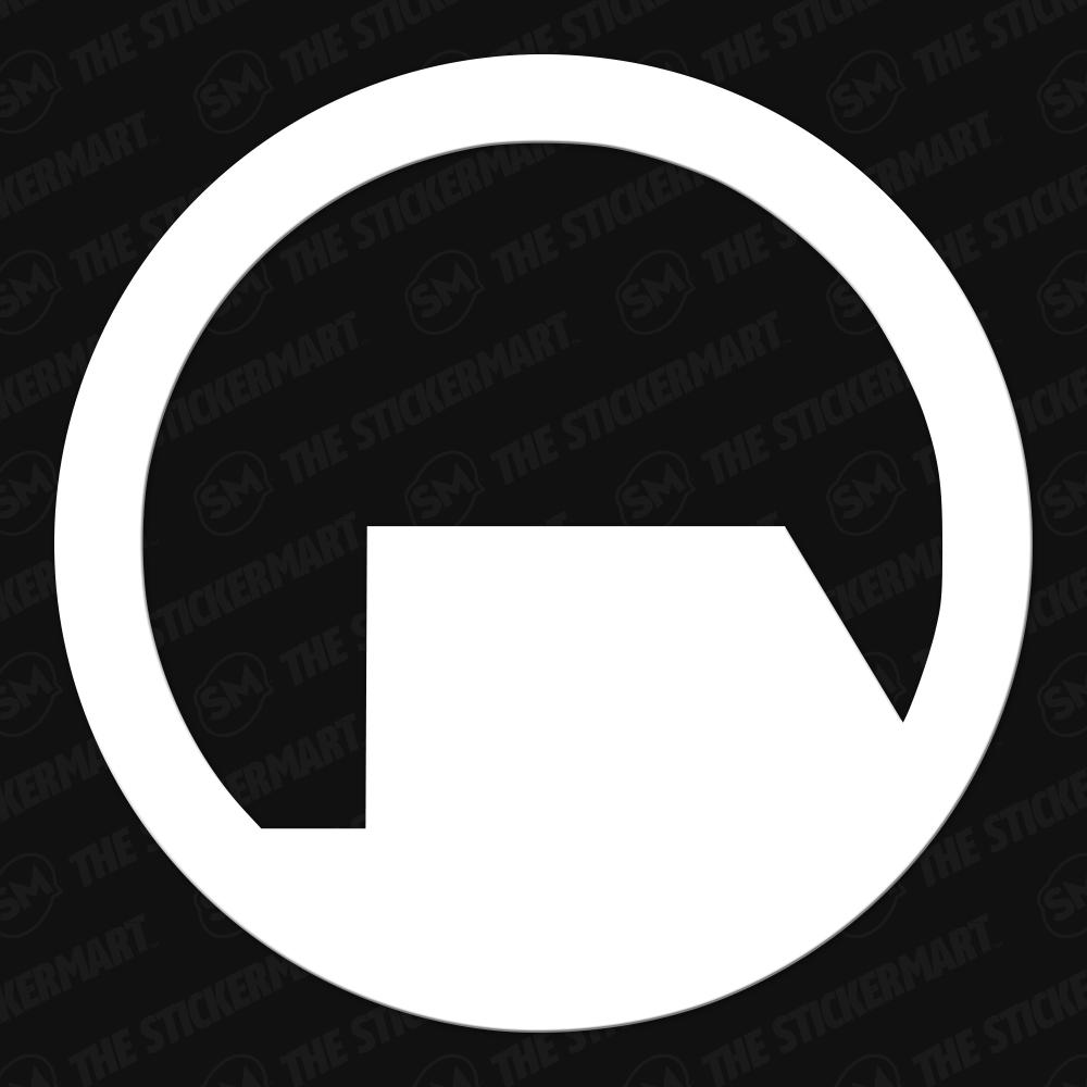 HalfLife Black Mesa Logo, Circle Vinyl Decal Vinyl