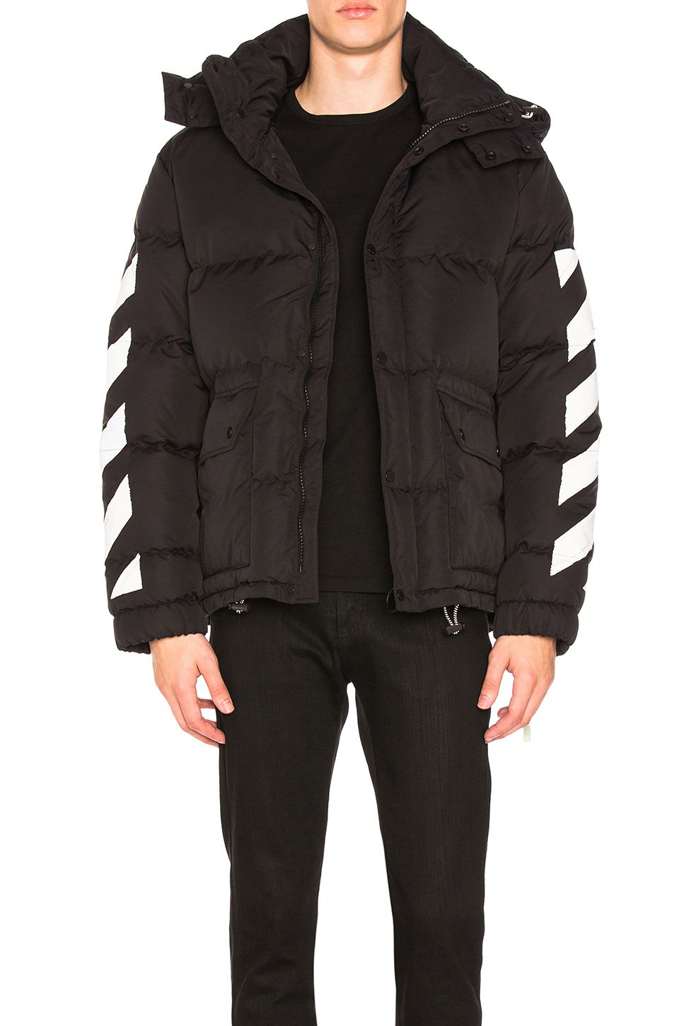 d6342a7a47ca OFF-WHITE DIAGONAL BRUSHED DOWN JACKET.  off-white  cloth