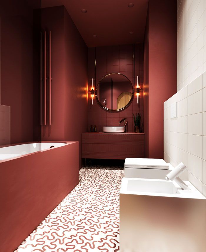 It S Time To Finally Invest In Your Bathroom Design Makeover Bathroom Trends Bathroom Interior Design Bathroom Red