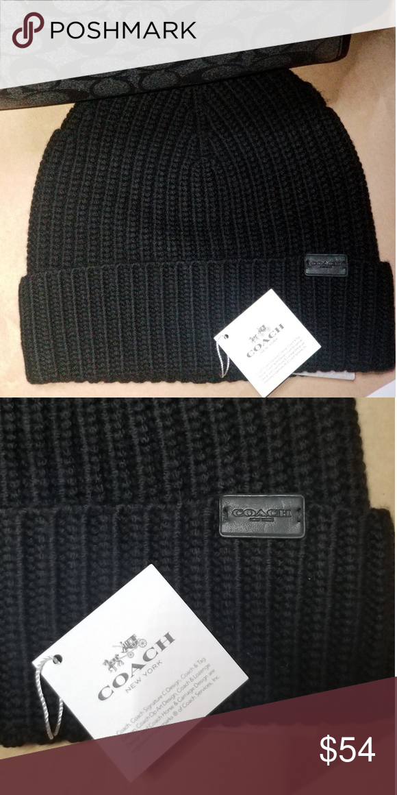 34218916fda Coach beanie Brand new Coach black beanie I have many other mens Coach  items
