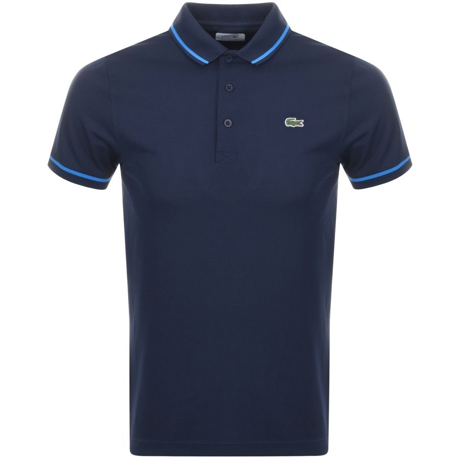 Lacoste Sport Ultra Dry Tipped Polo T Shirt Navy Mainline Menswear Lacoste T Shirt Polo T Shirts Lacoste Sport