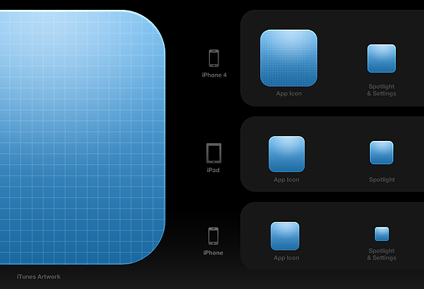 app icon template useful for creating icons in different