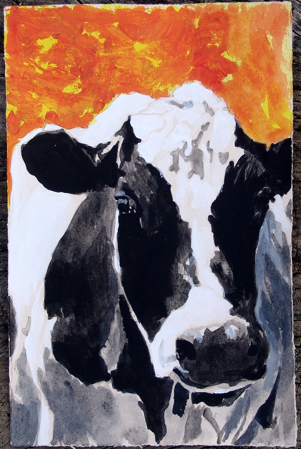 up close photos of holstein cows cow painting portrait black an