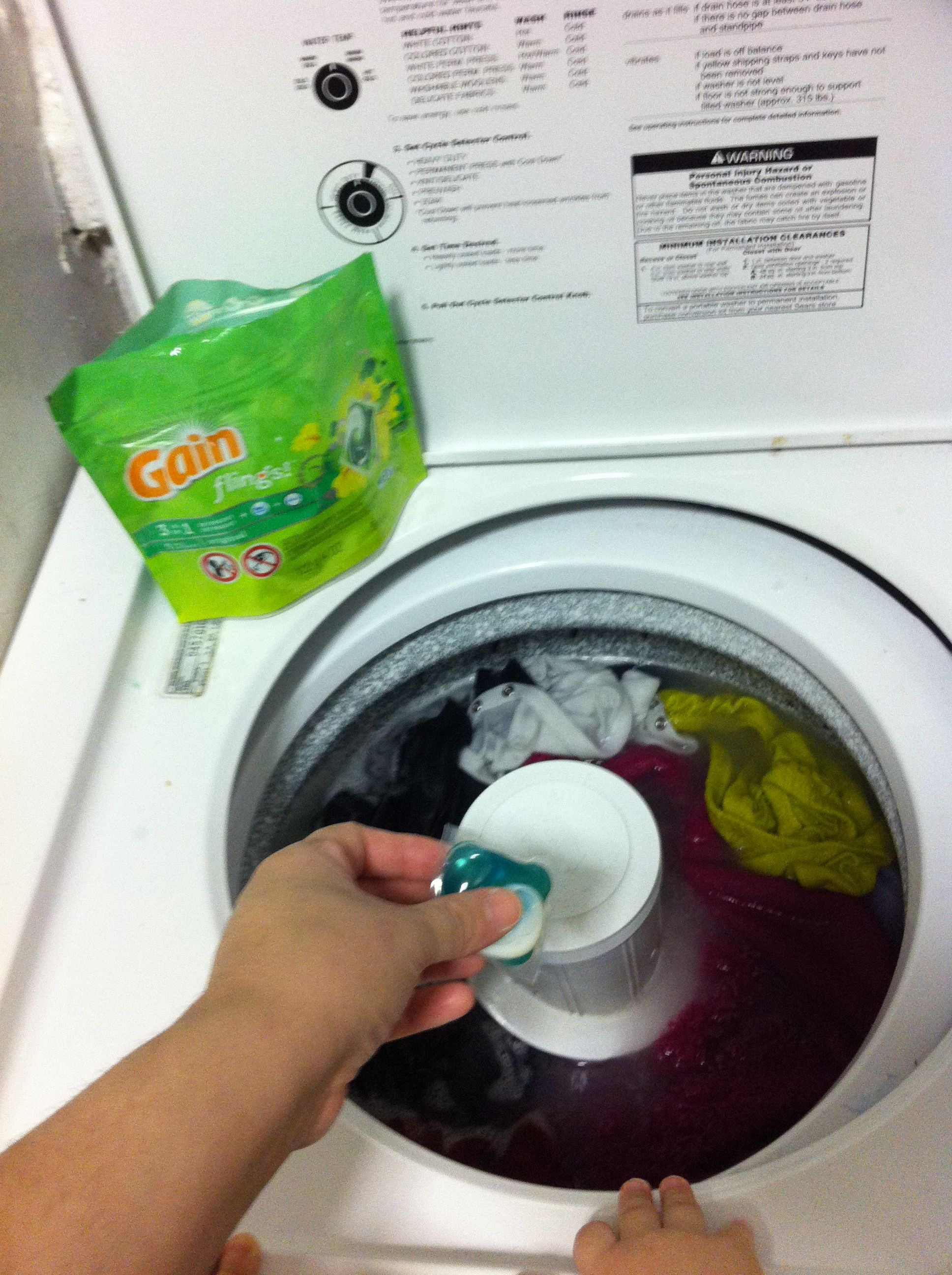 I Found Out It Was Better To Use The Gain Laundry Detergent