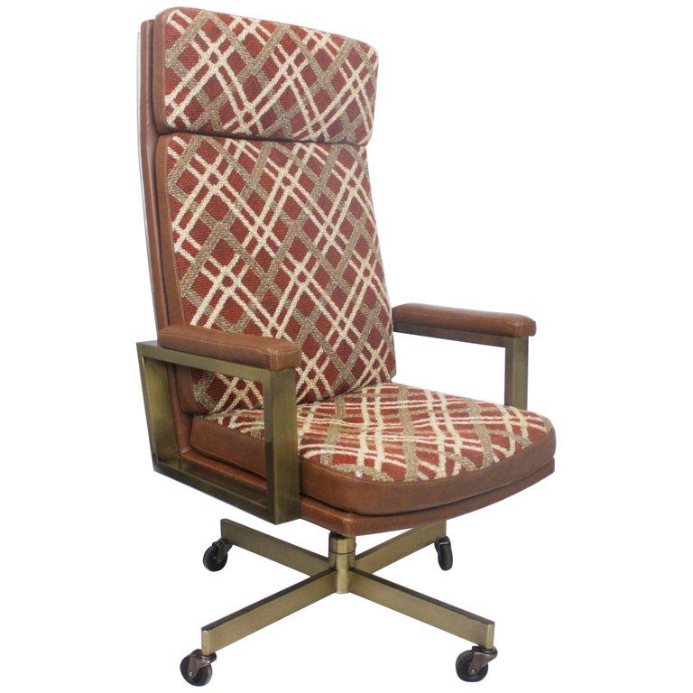 1stdibs Office Chair Desk Chair Vintage 1970 High Back