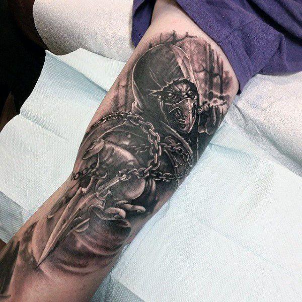 70 Mortal Kombat Tattoos For Men Gaming Ink Design Ideas