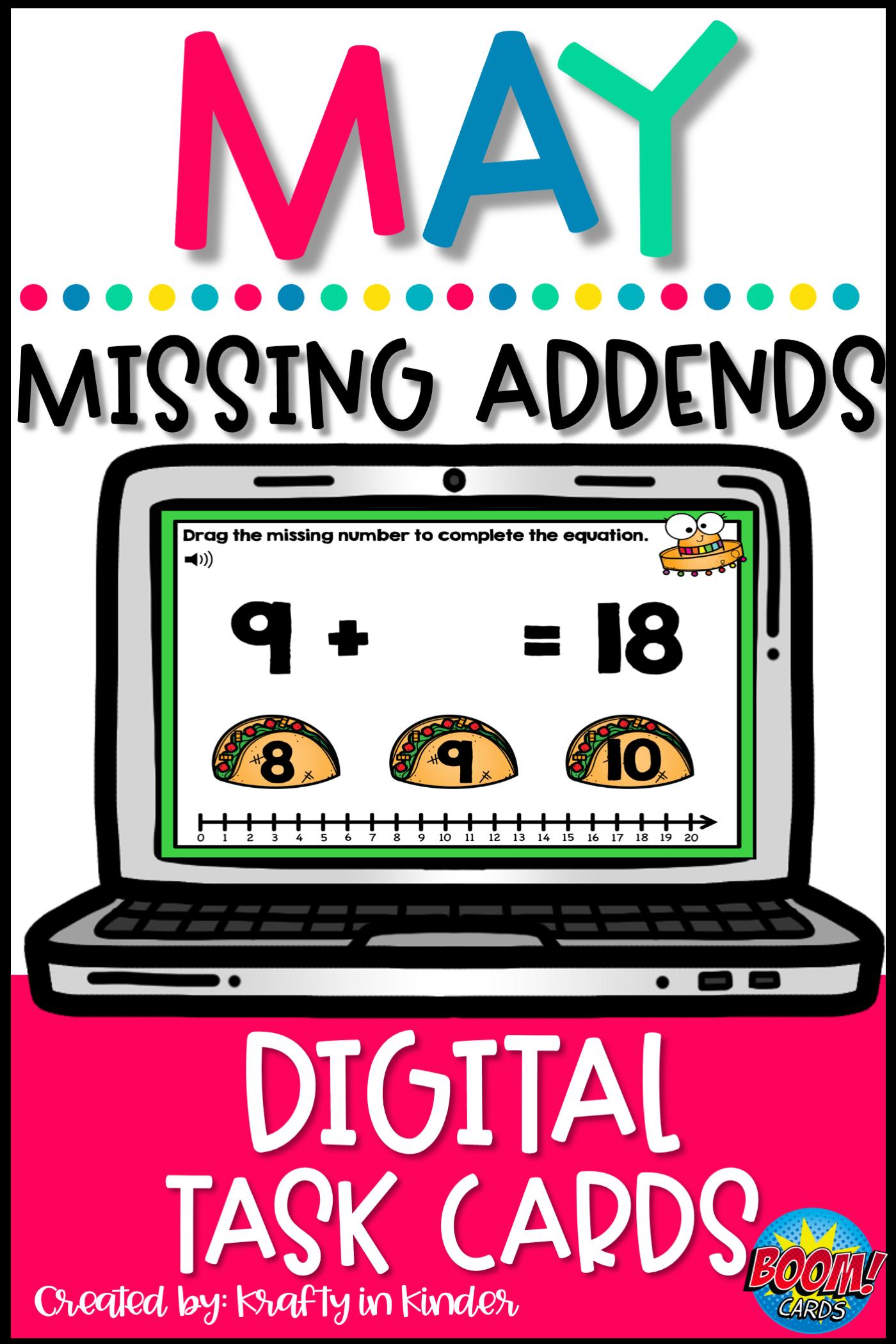 Addition Math Games Missing Addends