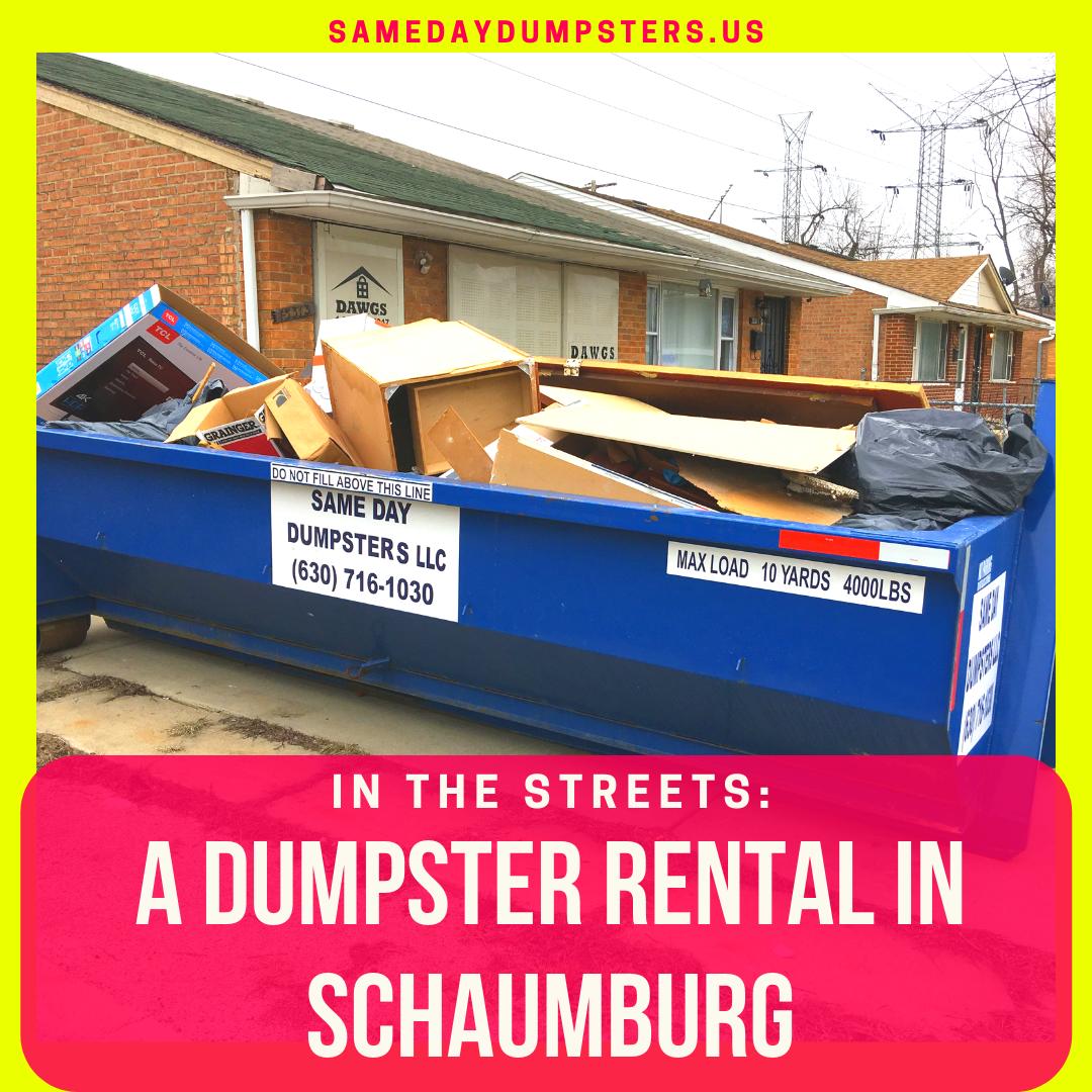 A Dumpster Rental In Schaumburg Dumpster Rental Dumpster Rental