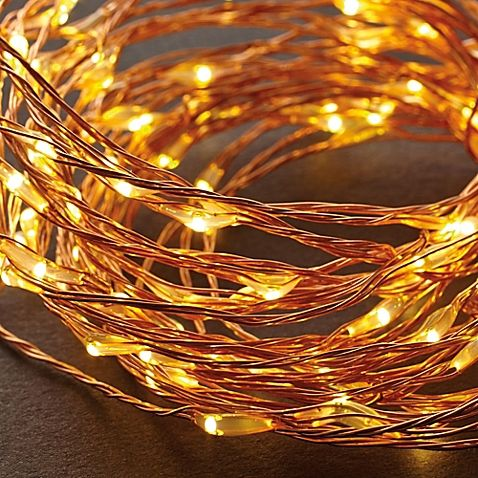 These warm white LED String Lights are strung on bendable copper