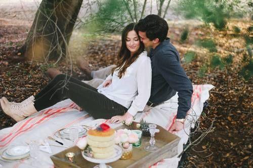 Styled Engagement Shoot - Romantic Picnic   Blushing Makeup Artistry