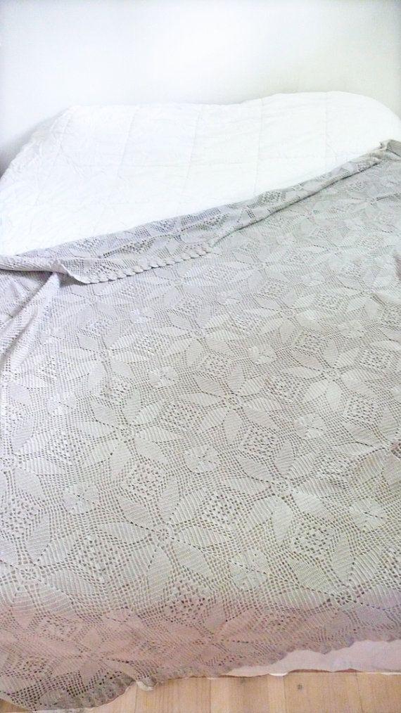 Vintage crocheted blanket Stars por lacasadecoto en Etsy, €65.00 ...