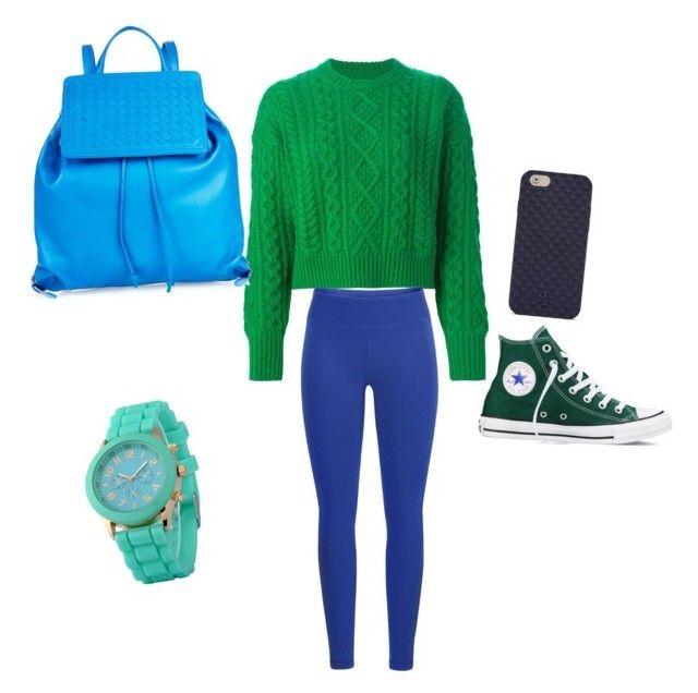 """Green and blue"" by earlyriserkitty on Polyvore featuring Étoile Isabel Marant, Black Diamond, Converse, Bottega Veneta and Tory Burch"