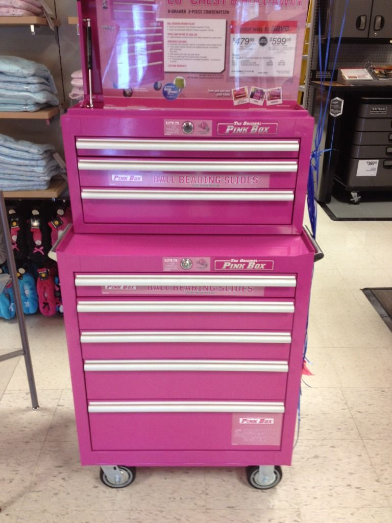 Pink Craftsman Tool Boxes Box For Your Tools Safe Work Steel Building Wiring Idea The Garage Journal Board