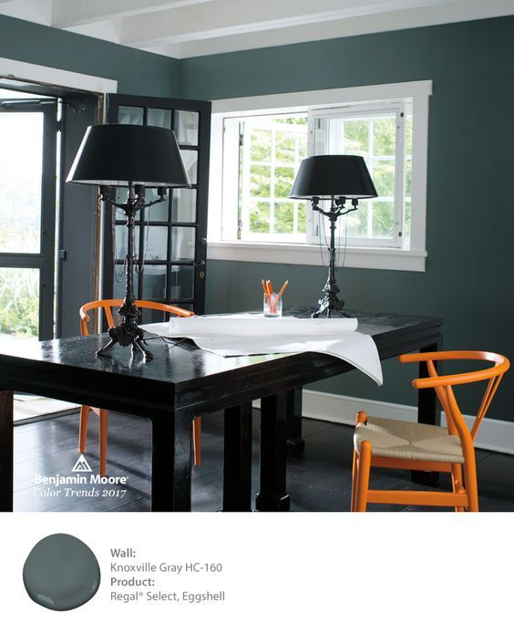 grays office. Benjamin Moore\u0027s Knoxville Gray HC-160 Is Stunning As An Office Backdrop. Grays