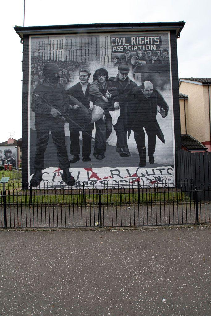 000 Irish Mural from Derry, Northern Ireland Belfast murals