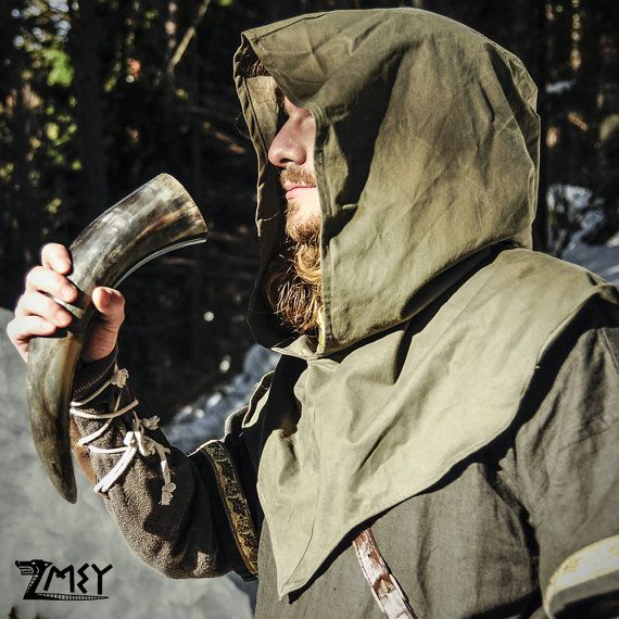 The Archers Hood. Medieval / fantasy hood For LARP by ZmeyCostumes