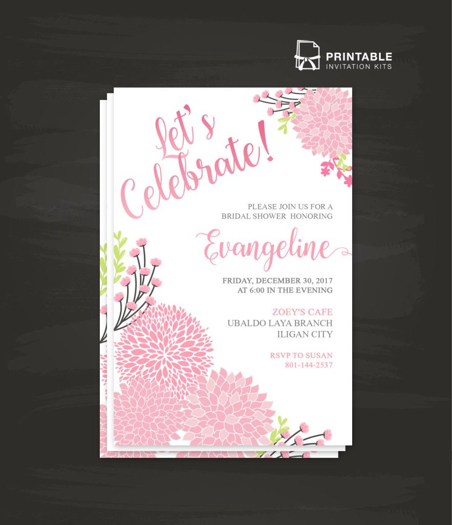 Let\'s Celebrate Free PDF Wedding/Party Invitation Template | Wedding ...