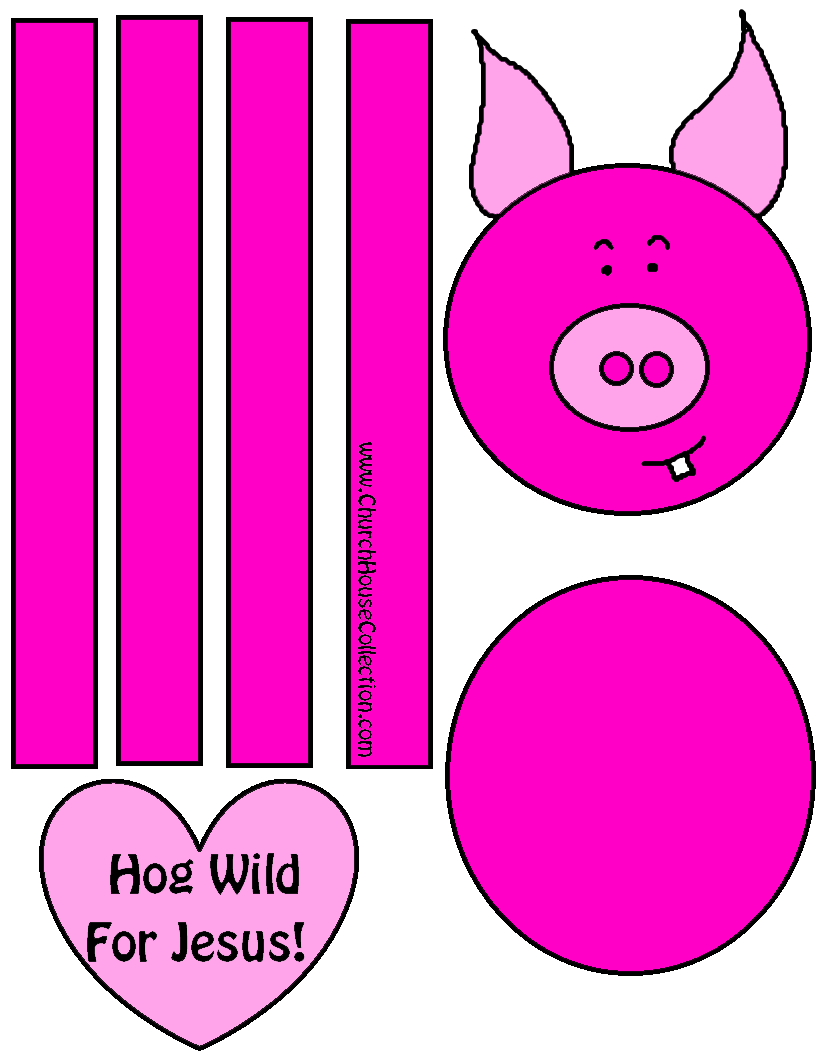 Hog Wild For Jesus Pig Craft For Valentine\'s Day For Sunday School ...