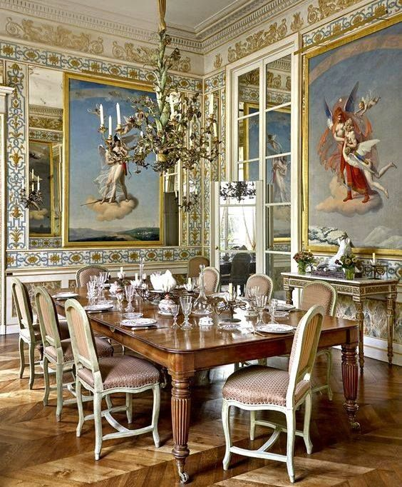 Dining Room In The Pompeiian Style But With A Regencyempire Style Enchanting Dining Room Empire Design Inspiration