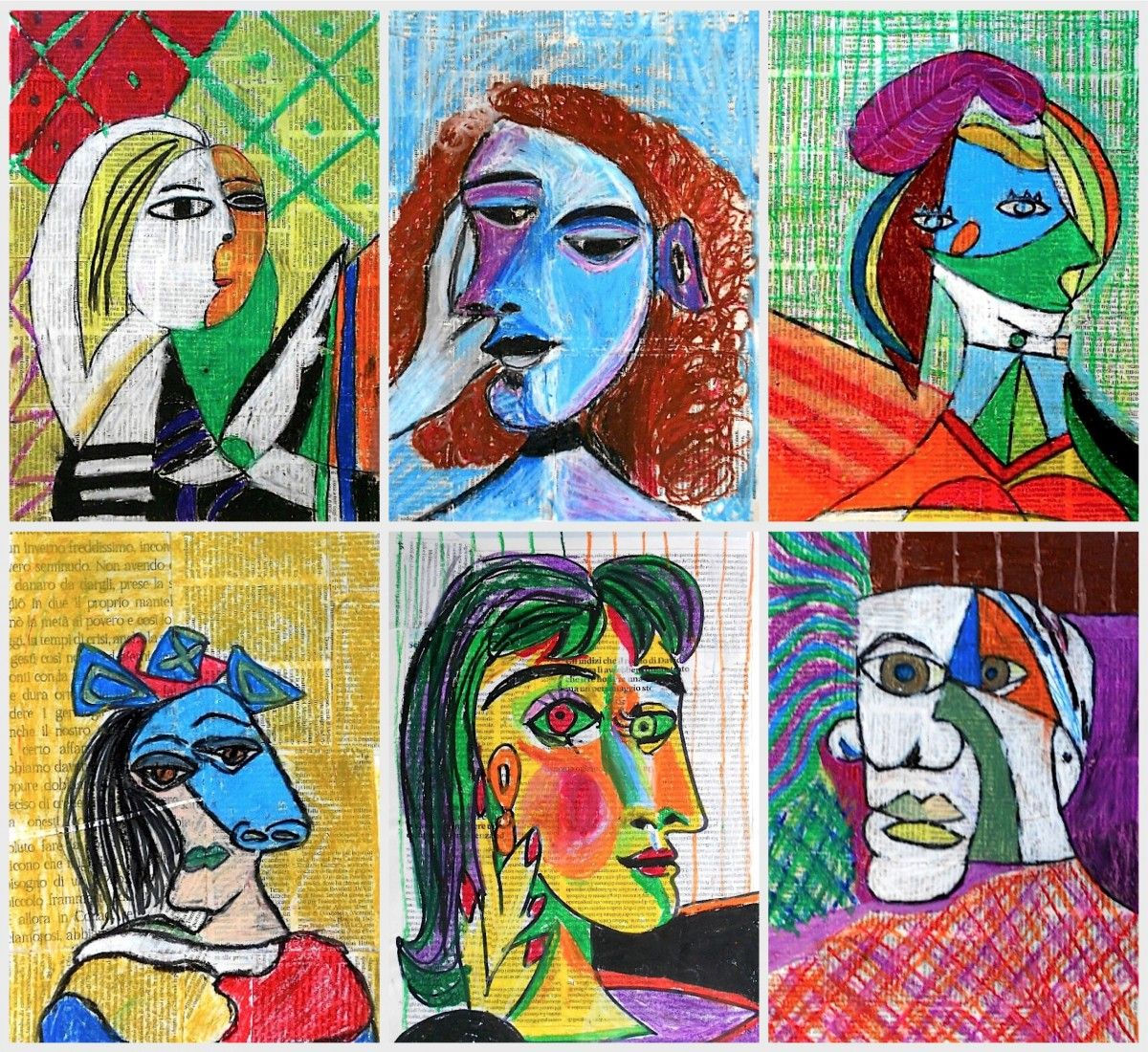 Mixed media portraits by Picasso | Picasso art, Picasso ...
