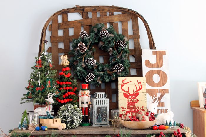 farmhouse style christmas home tour a tour of a home decorated in rustic style for