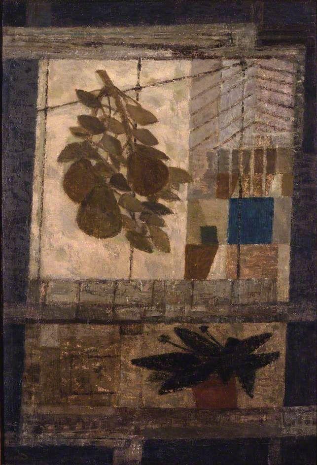 Prunella Clough – Greenhouse in Winter, 1949; Oil on canvas, 63.5x43.2 cm   British Council Collection