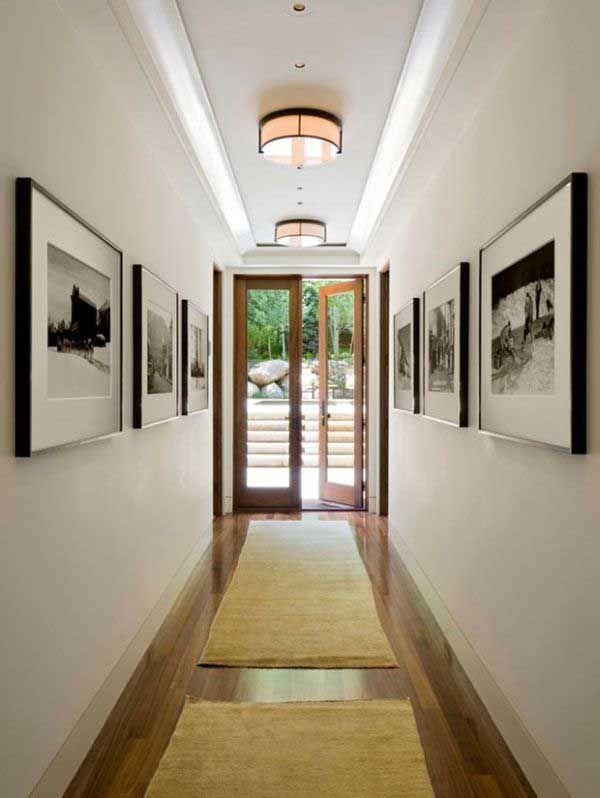 50 ideas para pintar y decorar un pasillo estrecho for Para desarrollar un corredor estrecho