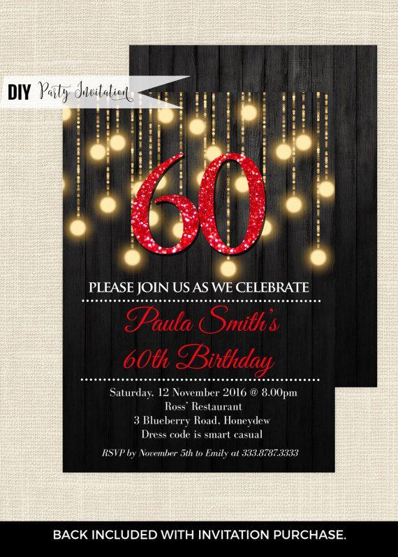 Red 60th birthday invitations 60th birthday invitations for her red 60th birthday invitations 60th birthday invitations for her red and gold 60 birthday filmwisefo