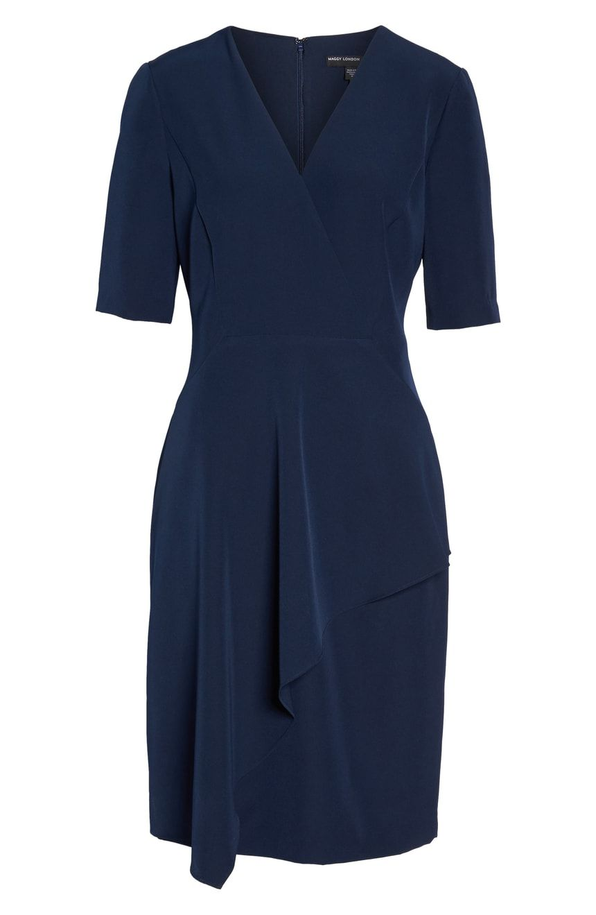 43b393bf Maggy London Solid Dream Crepe Sheath Dress | Nordstrom | My ...