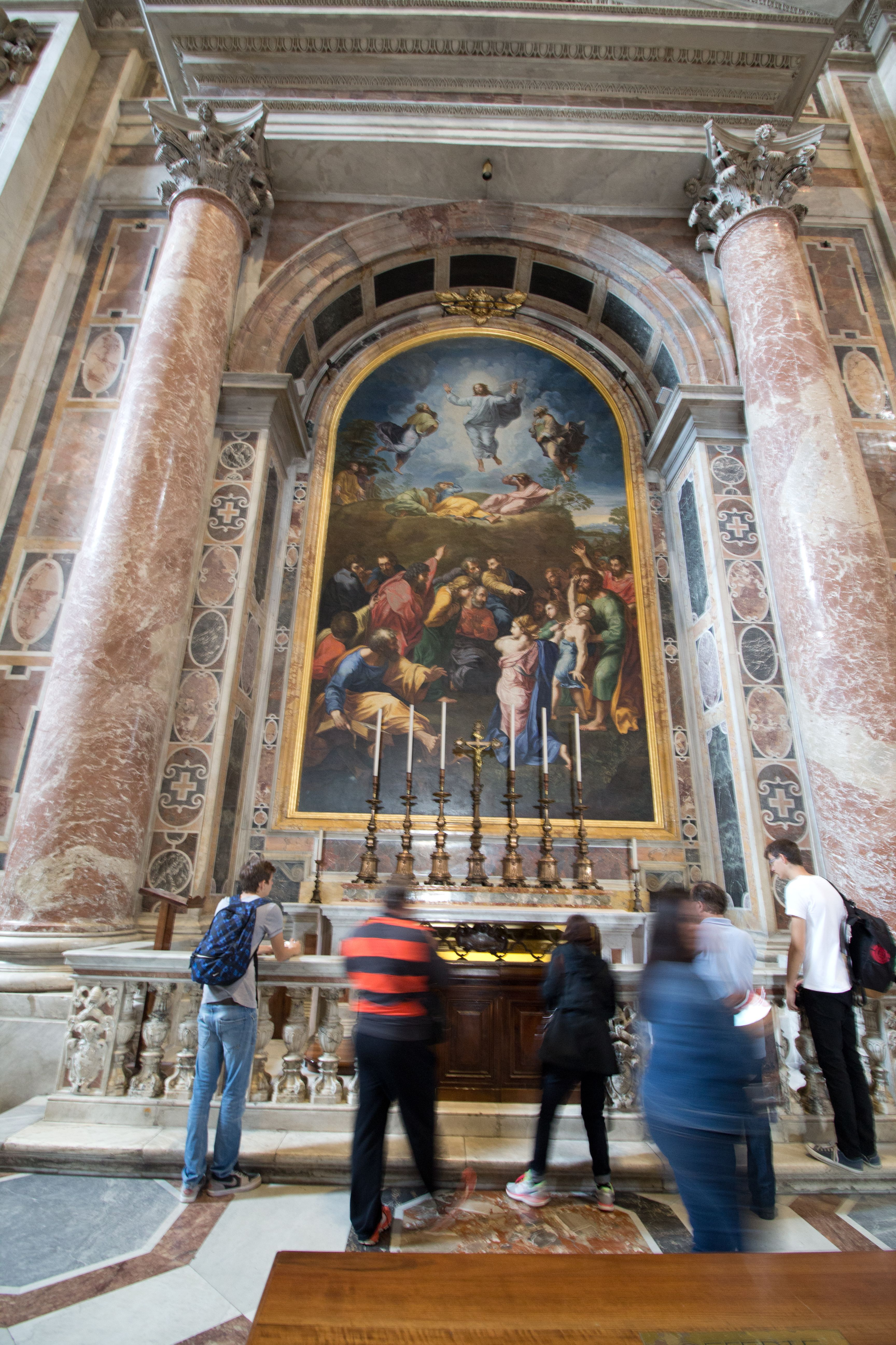There are NO paintings in St. Peter's Basilica, only ...