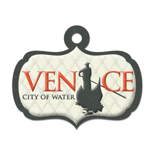 We R Memory Keepers - Destination Collection - Embossed Tags - Venice at Scrapbook.com $0.49