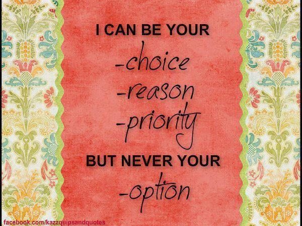 #NEVER AN #OPTION