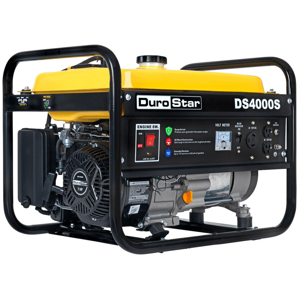 durostar 3300 watt gasoline powered portable generator with rv grade [ 1000 x 1000 Pixel ]