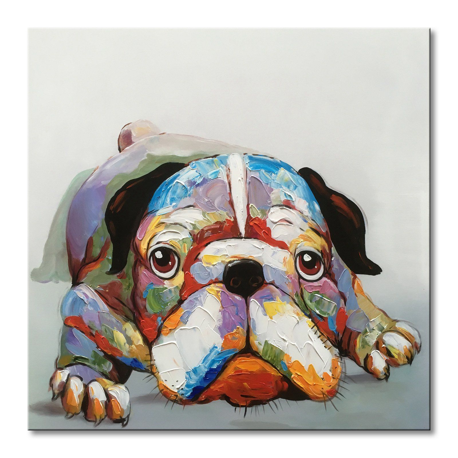Everfun art hand painted animal oil painting on canvas of