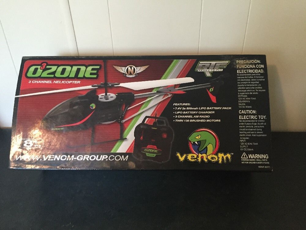 Venom Ozone O3 Remote Control Rc Helicopter 15 Long Venf 6203 In