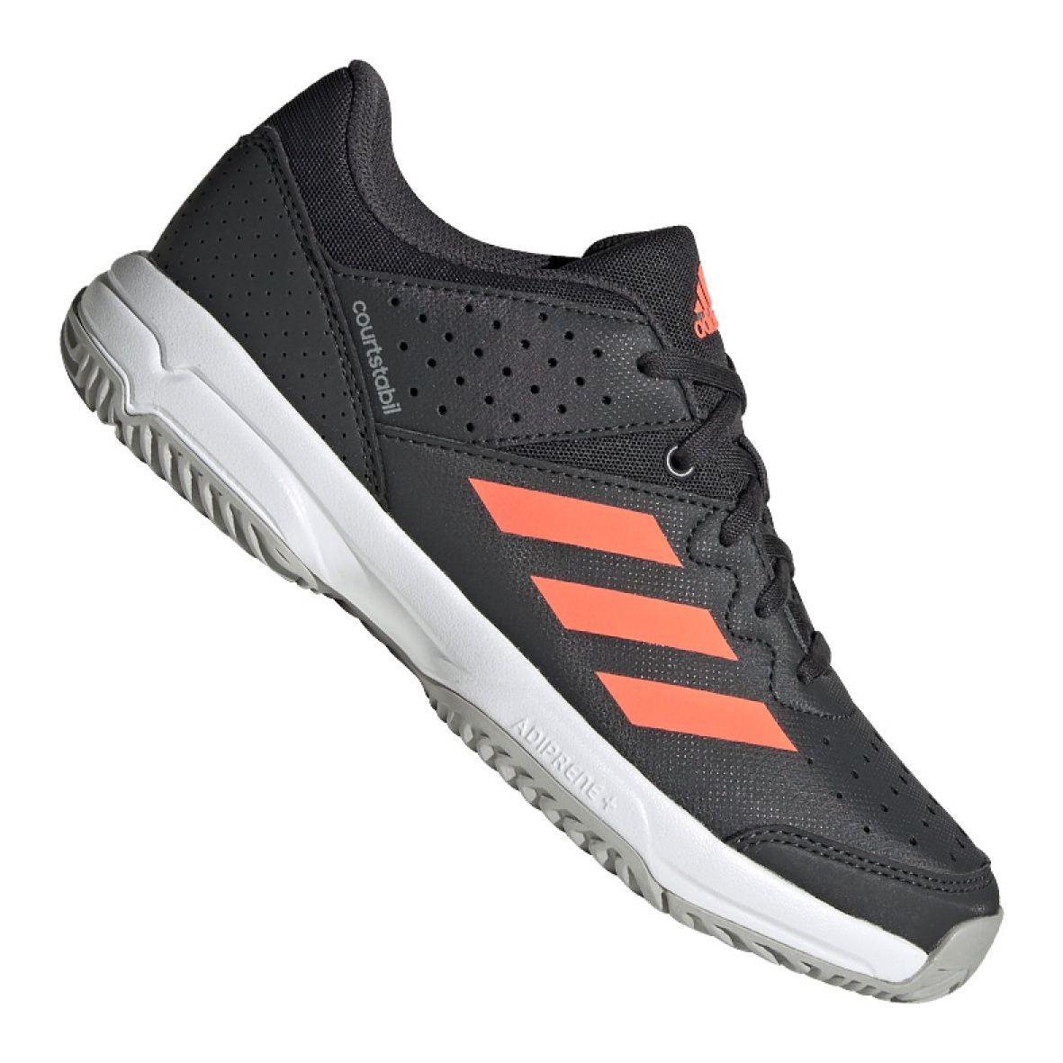 Buty Adidas Court Stabil Jr Eh2557 Czarne Wielokolorowe In 2021 Black Shoes Adidas Shoes