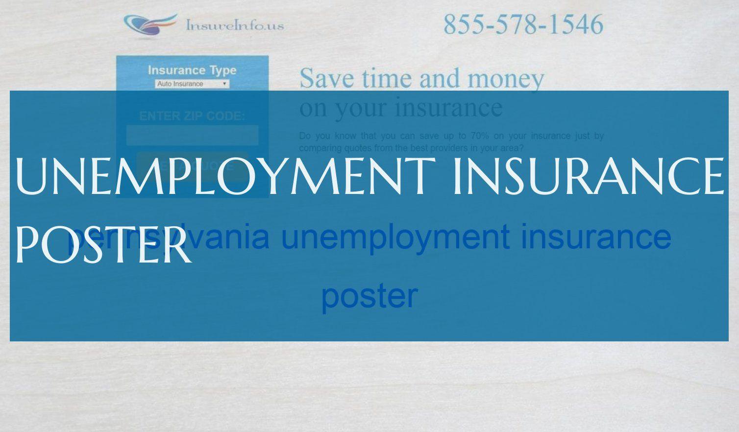 Arbeitslosenversicherungsplakat Insurance Unemployment Save Time