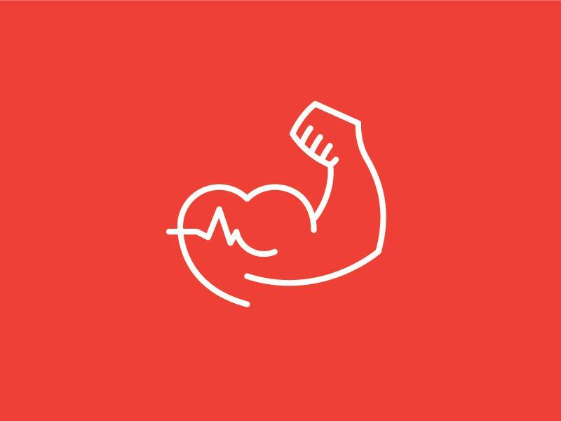 Health fitness coach logo mark