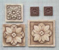 Small Decorative Tiles Backsplash Medallion  Decorative Tile Inserts And High Relief