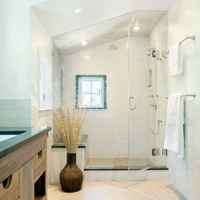 bathroom sloped ceiling design ideas, pictures, remodel