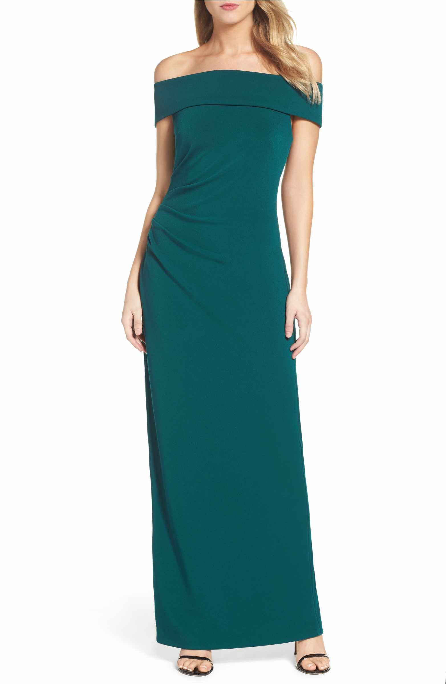 Off the Shoulder Gown | Vince camuto, Gowns and Shoulder