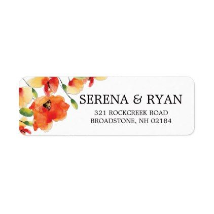 Summer Golden Poppy Wedding Label - summer gifts season diy - wedding labels template