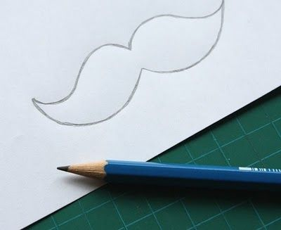how to draw a mustache step by step