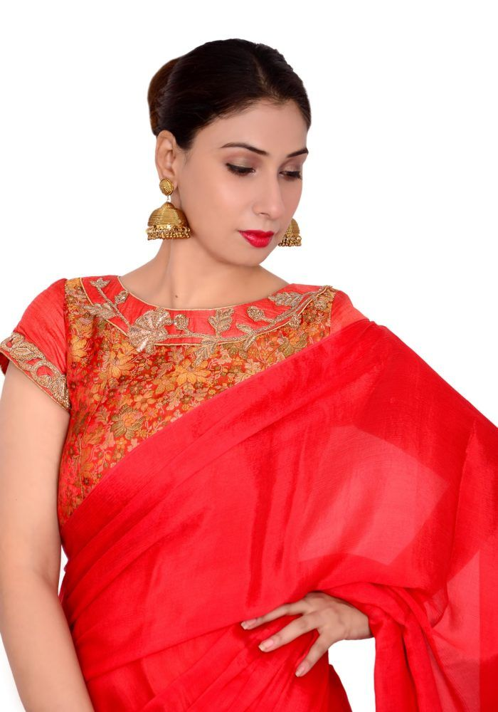 343d2ee4f3b41c Shop online for designer sarees and blouses online at Pinkpaparazzi.in.  Find the collection of stylish blouse neck designs and designer sarees for  any ...