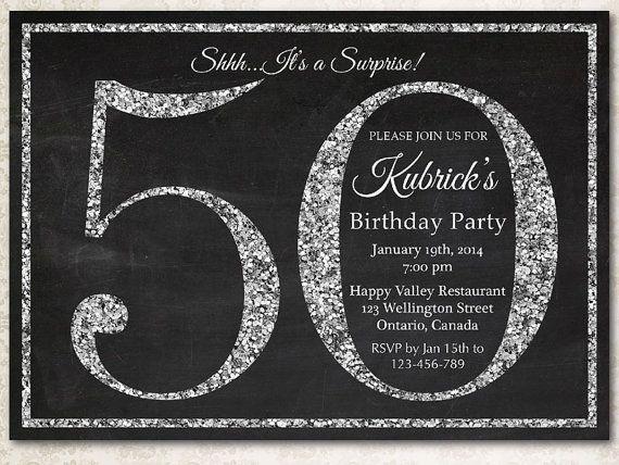ideas for 50th birthday invitations