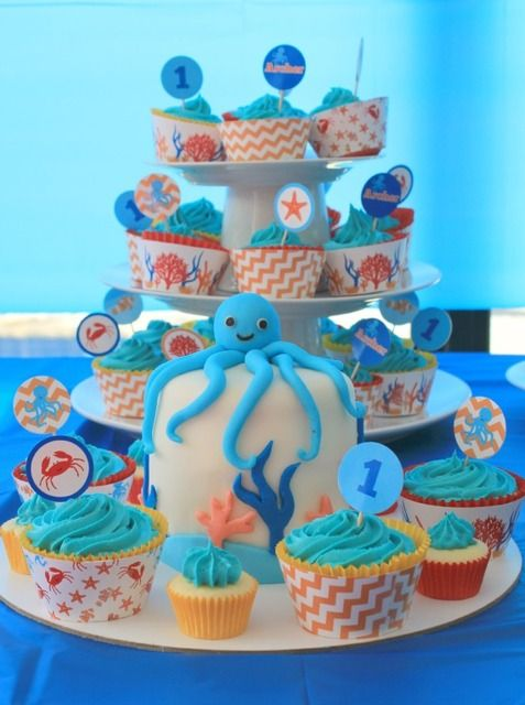 Ocean Under The Sea Birthday Party Ideas With Images First