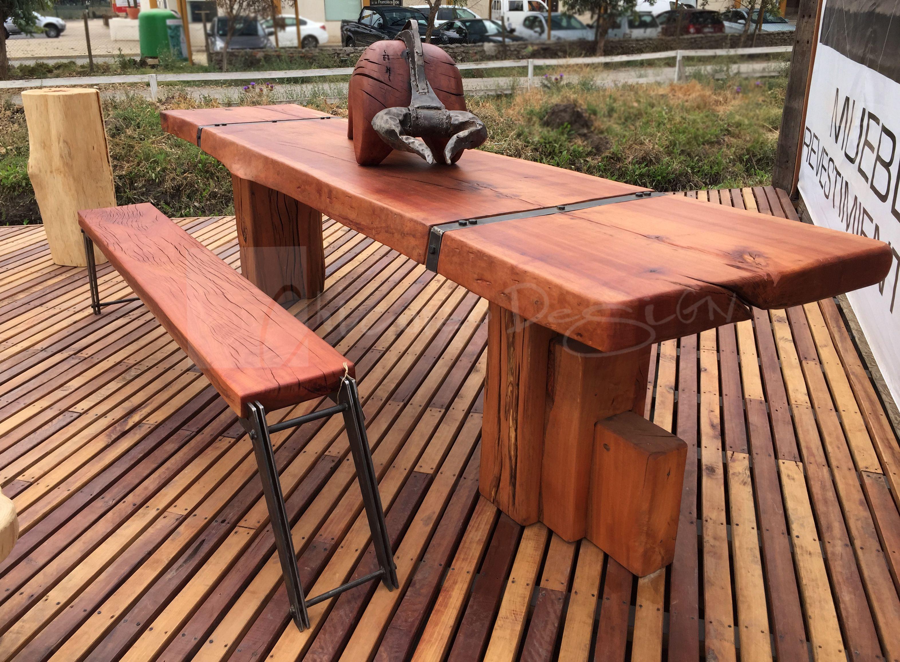 Chicureo design mes n quincho blockwood roble mes n de for Mesones de madera